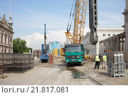 Berlin, Germany, construction of the subway line U 55 Unter den Linden (2012 год). Редакционное фото, агентство Caro Photoagency / Фотобанк Лори