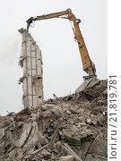 Купить «Last remnant of a demolished warehouse», фото № 21819781, снято 11 ноября 2004 г. (c) Caro Photoagency / Фотобанк Лори