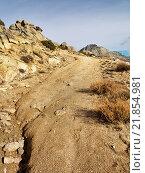 Road to the Zapatero pass in the Sierra de la Paramera. Navandrinal. Avila. Castilla Leon. Spain. Europe. Стоковое фото, фотограф José Ramiro / age Fotostock / Фотобанк Лори