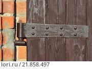 Купить «Старинная дверная петля», фото № 21858497, снято 23 января 2016 г. (c) Сергей Трофименко / Фотобанк Лори