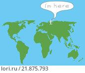 Карта с человеком. Стоковая иллюстрация, иллюстратор Фомичёв Роман / Фотобанк Лори
