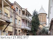 Купить «Старый Тбилиси», фото № 21892917, снято 4 января 2016 г. (c) Gagara / Фотобанк Лори