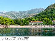 Знаменитый Королевский пляж, Милочер, Черногория (2015 год). Стоковое фото, фотограф Ольга Коцюба / Фотобанк Лори