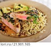Ahi Tuna Steak. Стоковое фото, фотограф Zoonar/S.Foote / easy Fotostock / Фотобанк Лори