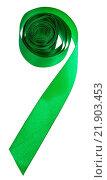 Купить «green satin decorative ribbon isolated», фото № 21903453, снято 23 марта 2019 г. (c) easy Fotostock / Фотобанк Лори