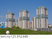 Новосибирск. Три высотки на улице Фрунзе. (2013 год). Редакционное фото, фотограф Антон Ильяшенко / Фотобанк Лори