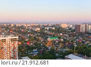 Новосибирск вид с высоты, с улицы Военной (2012 год). Стоковое фото, фотограф Антон Ильяшенко / Фотобанк Лори