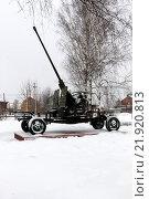 Мемориал в виде артиллерийской пушки. Стоковое фото, фотограф Николай Грушин / Фотобанк Лори
