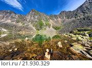Купить «Каменное дно высокогорного озера. Восточные Саяны. Бурятия», фото № 21930329, снято 4 июля 2015 г. (c) Виктор Никитин / Фотобанк Лори