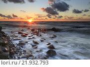 Рассвет на Куршской косе. Стоковое фото, фотограф Юстасия Щурова / Фотобанк Лори