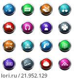 Купить «Casino icons set», иллюстрация № 21952129 (c) PantherMedia / Фотобанк Лори