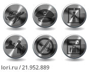 Купить «Airport icons set», иллюстрация № 21952889 (c) PantherMedia / Фотобанк Лори