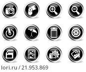 Купить «Photography Silhouette Icons», иллюстрация № 21953869 (c) PantherMedia / Фотобанк Лори