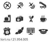 Купить «Airport icon set», иллюстрация № 21954005 (c) PantherMedia / Фотобанк Лори