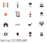 Купить «Hanukkah simply icons», иллюстрация № 21955681 (c) PantherMedia / Фотобанк Лори