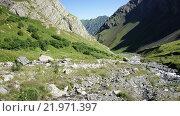 Долина горной реки на Кавказе. Стоковое фото, фотограф Daniil Nasonov / Фотобанк Лори