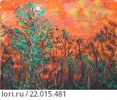 Сумрачный лес. Стоковая иллюстрация, иллюстратор Иван Носков / Фотобанк Лори