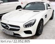 Купить «Автомобиль Mercedes-AMG GT», фото № 22052805, снято 21 февраля 2016 г. (c) Данила Васильев / Фотобанк Лори