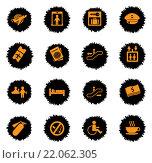 Купить «Airport icons set», иллюстрация № 22062305 (c) PantherMedia / Фотобанк Лори