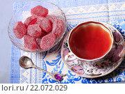 Купить «Чай с мармеладом», эксклюзивное фото № 22072029, снято 4 марта 2016 г. (c) Яна Королёва / Фотобанк Лори