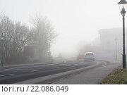 Купить «Danger to motorists by poor visibility», фото № 22086049, снято 25 июня 2019 г. (c) easy Fotostock / Фотобанк Лори
