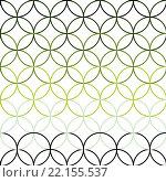 Купить «Seamless Abstract Intersecting and Repeating Modern Green Circles», иллюстрация № 22155537 (c) PantherMedia / Фотобанк Лори
