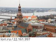 Купить «Вид на Ригу с башни церкви Святого Петра, Рига, Латвия», фото № 22161997, снято 5 марта 2016 г. (c) Мальцев Артур / Фотобанк Лори