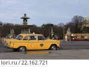 Парижское такси (2014 год). Редакционное фото, фотограф Юлия Рассохина / Фотобанк Лори