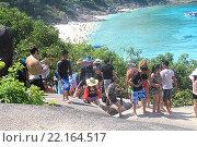 Купить «Таиланд. Симиланские острова. Подъём по скалам», фото № 22164517, снято 20 февраля 2016 г. (c) Алексей Сварцов / Фотобанк Лори