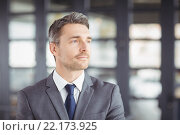 Handsome businessman looking away. Стоковое фото, агентство Wavebreak Media / Фотобанк Лори