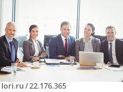 Купить «Businesspeople in conference room», фото № 22176365, снято 31 октября 2015 г. (c) Wavebreak Media / Фотобанк Лори