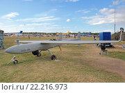 Международный авиационно-космический салон МАКС-2015. Южноафриканский беспилотный летательный аппарат Denel Dynamics Seeker 400. Редакционное фото, фотограф Игорь Долгов / Фотобанк Лори