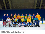 Купить «ice hockey players team portrait», фото № 22221017, снято 26 мая 2020 г. (c) easy Fotostock / Фотобанк Лори