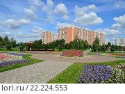 Купить «Парк «Радуга». Район Вешняки. Москва, 2015 год», эксклюзивное фото № 22224553, снято 3 августа 2015 г. (c) lana1501 / Фотобанк Лори