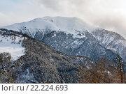 Зимний пейзаж: горы Кавказа. Стоковое фото, фотограф Илья Бесхлебный / Фотобанк Лори