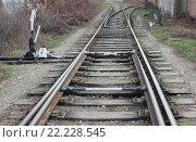 Механизмы перевода стрелок на железной дороге. Стоковое фото, фотограф Kostin sergey aleksandrovich / Фотобанк Лори