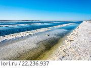 Купить «Соленое озеро Баскунчак», фото № 22236937, снято 8 июня 2015 г. (c) Валерий Смирнов / Фотобанк Лори