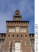 Купить «Castle Sforzesco tower», фото № 22261261, снято 18 марта 2018 г. (c) PantherMedia / Фотобанк Лори