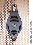 Купить «New cordage assortment on stand close up», фото № 22267509, снято 19 августа 2018 г. (c) Яков Филимонов / Фотобанк Лори
