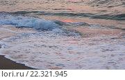 Купить «Sea Surf Waves on Sandy Morning Beach», видеоролик № 22321945, снято 29 февраля 2016 г. (c) Юрий Брыкайло / Фотобанк Лори
