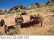 Купить «Old equipment at Birch Creek Ranch, Owyhee Wild and Scenic River, Vale District Bureau of Land Management, Oregon.», фото № 22325121, снято 7 июня 2015 г. (c) age Fotostock / Фотобанк Лори