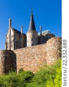 Ancient town walls and Episcopal Palace of Astorga. Стоковое фото, фотограф Яков Филимонов / Фотобанк Лори