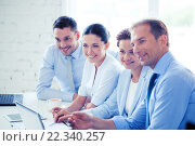 Купить «business team having meeting in office», фото № 22340257, снято 9 июня 2013 г. (c) Syda Productions / Фотобанк Лори