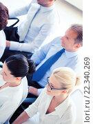 Купить «businessmen and businesswomen on conference», фото № 22340269, снято 9 июня 2013 г. (c) Syda Productions / Фотобанк Лори