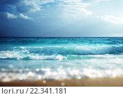 Купить «Морской пляж на закате», фото № 22341181, снято 19 декабря 2013 г. (c) Iakov Kalinin / Фотобанк Лори