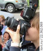 Купить «Профессиональный фотограф», эксклюзивное фото № 22362069, снято 22 ноября 2019 г. (c) Елена Осетрова / Фотобанк Лори