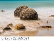 Купить «Таинственные каменные сферы Моераки Болдерс - Новая Зеландия», фото № 22365021, снято 16 ноября 2014 г. (c) vale_t / Фотобанк Лори