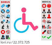 Купить «Disabled Person Icon», фото № 22372725, снято 20 апреля 2019 г. (c) easy Fotostock / Фотобанк Лори