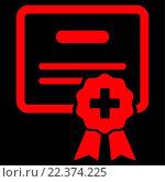 Купить «Medical Certification Icon», фото № 22374225, снято 20 апреля 2019 г. (c) easy Fotostock / Фотобанк Лори