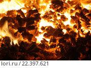 Горящий уголь в печи. Стоковое фото, фотограф Синицын Юрий Альбертович / Фотобанк Лори